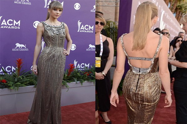 Taylor Swift in golden gown steals the show!!, tlor swiftay