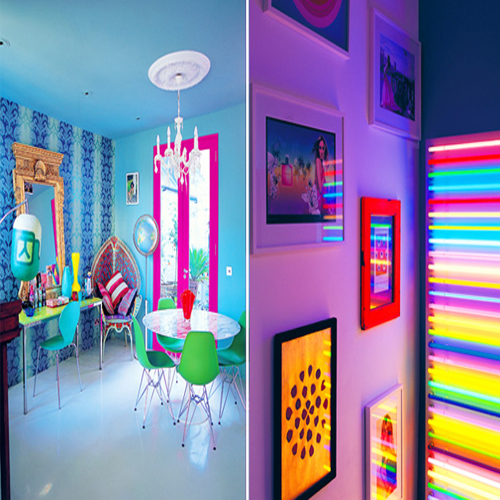 how to make neon paint at home