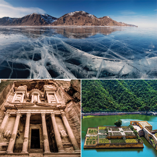 7 Beautiful Exotic Destinations around the world, 7 beautiful exotic destinations around the world,  exotic destinations around the world,  lake baikal,  the cook islands,  angkor wat,  porto heli,  petra,  forest of knives,  amer fort,  ifairer