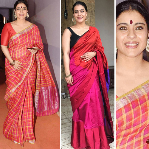 Kajol's stunning look in saree, Try this festive season