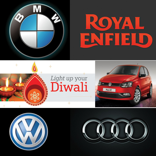 Best Festive Car and Bike discounts offered this Diwali, best festive car & bike discounts offered this diwali,  diwali car discounts,  diwali bike discounts,  tvs,  volkswagen,  yamaha,  audi,  royal enfield,  bmw,  technology,  ifairer