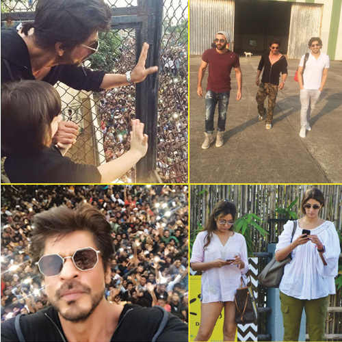 In pics: From SRK greeting fans with cutie AbRam to his exclusive b`day bash, in pics: from srk greeting fans with cutie abram to his exclusive b`day bash,  inside srk`s birthday party,  abram walks away with fans cheer on srk birthday at mannat,  entertainment,  ifairer