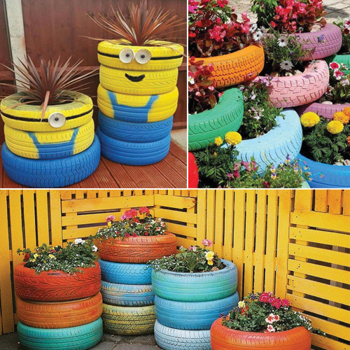 Decorate your garden with these 7 recycled products slide for Garden decorations from recycled materials