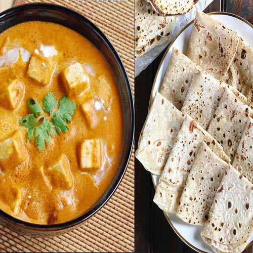 Savour the royal treat with Shahi paneer and Roomali roti