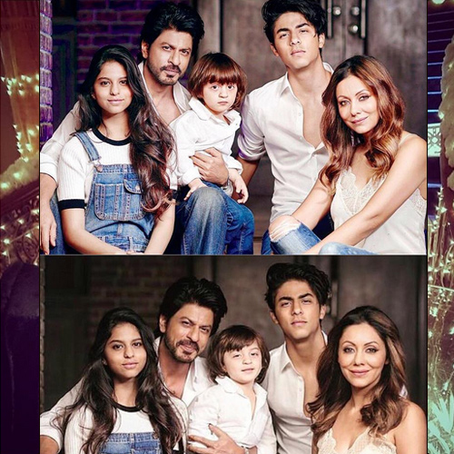 In pics: SRK's adorable family photoshoot , in pics: srk`s adorable family photoshoot,  family photo of shah rukh khan,  gauri and their kids,  shahrukh-gauri khan`s awesome photoshoot with aryan,  suhana and abram,  bollywood king shah rukh khan,  bollywood news,  bollywood gossip,  ifairer