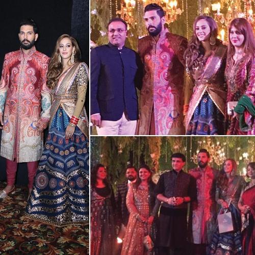 Just In: Newlywed Yuvraj-Hazel`s Grand Wedding Reception