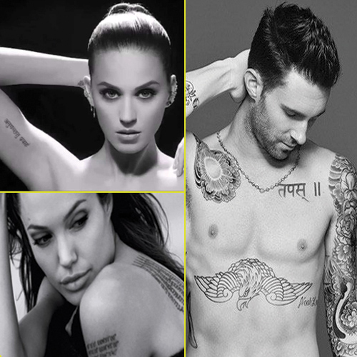 Hollywood Celebs inked in Indian tattoos