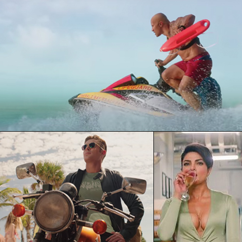 Baywatch trailer out: Johnson and Efron hilarious, Priyanka missed, baywatch trailer out: johnson & efron hilarious,  priyanka missed,  baywatch trailer out,  dwayne johnson and zac efron a laughter riot in baywatch trailer,  baywatch trailer,  entertainment,  ifairer