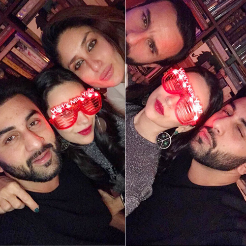 Kareena, Saif, Ranbir and Karisma celebrate new year with style, kareena kapoor,  saif ali khan,  ranbir kapoor & karisma kapoor celebrate new year with style,  new years bash of kapoors,  kareena kapoor khan celebrated her new year with sister karisma kapoor and brother ranbir kapoor,  bollywood news,  bollywood gossip,  ifairer