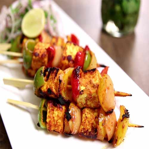 Recipe to make Paneer Tikka without Tandoor, recipe to make paneer tikka without tandoor,  how to make paneer tikka without grill,  easy recipe to make paneer tikka,   learn to make paneer tikka without tandoor,  tea time snack recipe,  starter recipe,  ifairer