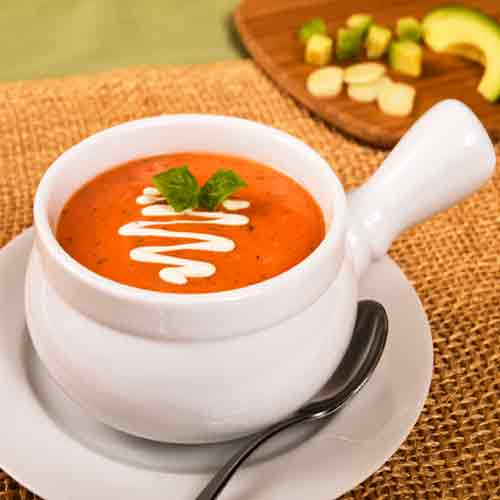 Make restaurant style Cream of Tomato Soup at home easily