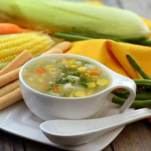 Easy recipe to cook Sweet Corn and Vegetable Soup