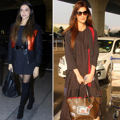 Deepika-Kriti shows how to travel stylishly , deepika padukone-kriti sanon shows how to travel stylishly,  kriti looks fab in stripy outfit at airport,  deepika padukone shows how to travel stylishly at mumbai airport,  airport lookbook,  fashion tips for airport look,   fashion tips,  ifairer