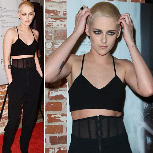 Kristen Stewart shaves her head, look unrecognizable