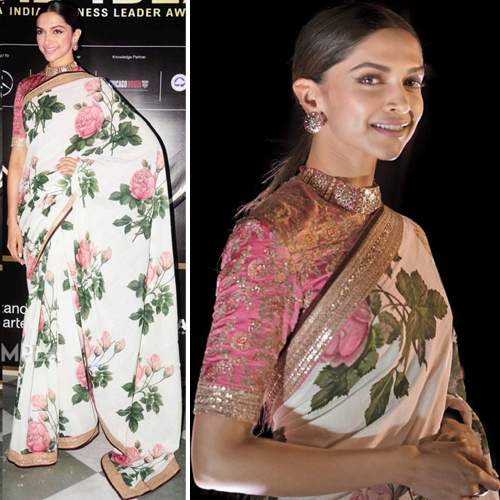 Deepika Padukone sets new fashion goals in floral saree, deepika padukone sets new fashion goals in floral saree,  deepika padukone in sabyasachi,  deepika radiates in floral print saree-blouse at award ceremony,  deepika padukone won the entertainer of the year award,  bollywood news,  bollywood gossip,  ifairer