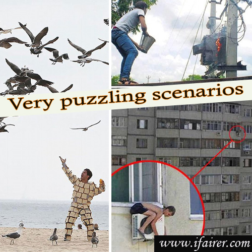 Hilarious pictures from the world: Capture people in very puzzling scenarios