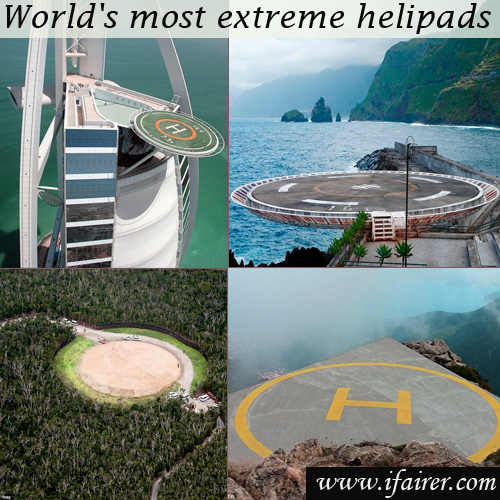 World's most extreme helipads revealed, enjoy a scenic view