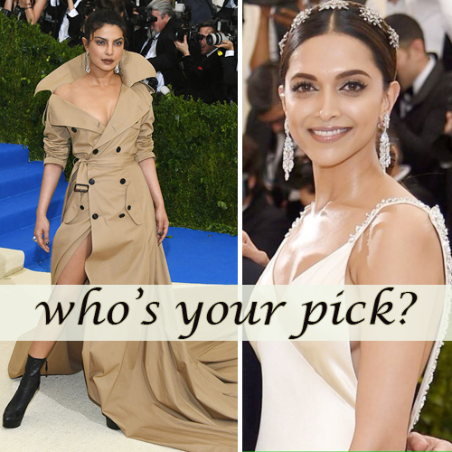Met Gala 2017: Priyanka Chopra and Deepika Padukone slaying the red carpet, met gala 2017: priyanka chopra & deepika padukone slaying the red carpet,  met gala 2017,   deepika padukone at the met gala 2017,  priyanka chopra slaying the red carpet at met gala 2017 in nyc,  hollywood news,  hollywood gossip