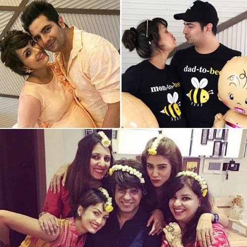 Karan Mehra-Nisha Rawal's baby shower clicks, karan mehra-nisha rawals baby shower clicks,  nisha rawal baby shower pictures,  tv gossips,  tv serial celebs news,  ifairer