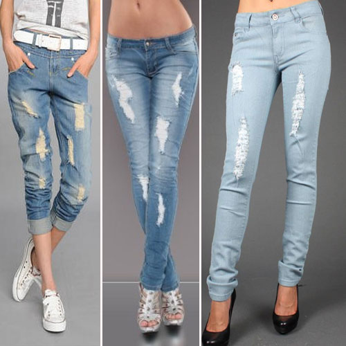 In 8 steps How to create your own ripped jeans look at home
