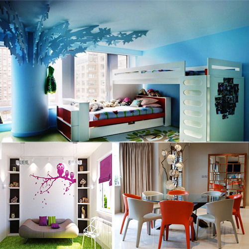 Colour ideas to decorate various parts of your home