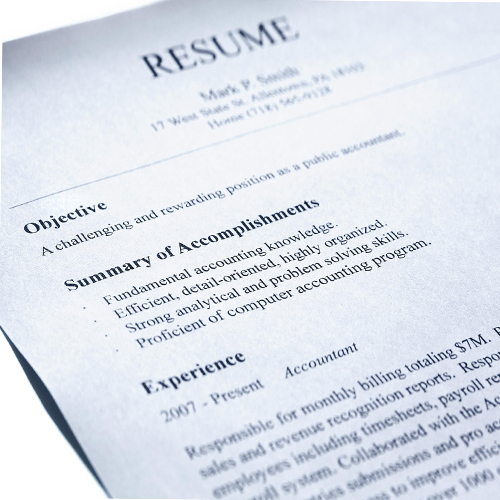 Points that should not be mentioned in Resume