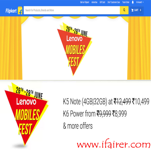 Flipkart comes up with 'Lenovo Mobile Fest', offering discounts and offers , flipkart comes up with lenovo mobile fest offering discounts and offers,  flipkart comes up with lenovo mobile fest,  see discounts and offers in lenovo mobile fest,  flipkart comes up with lenovo mobile fest,  lenovo mobile fest on flipkart,  ifairer