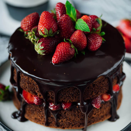 Make egg-less chocolate cake at home