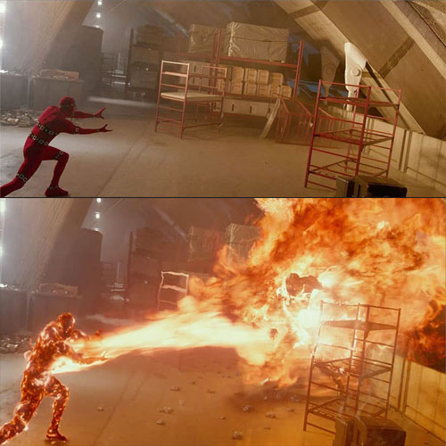 Famous movie scenes before and after visual effects, part 2