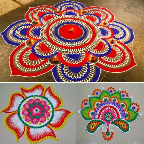 Navratri special rangoli designs, welcome goddess Durga, navratri special rangoli designs,  welcome goddess durga,  rangoli design for navratri festival,  navratri special,  home decor,  decor ides,  ifairer