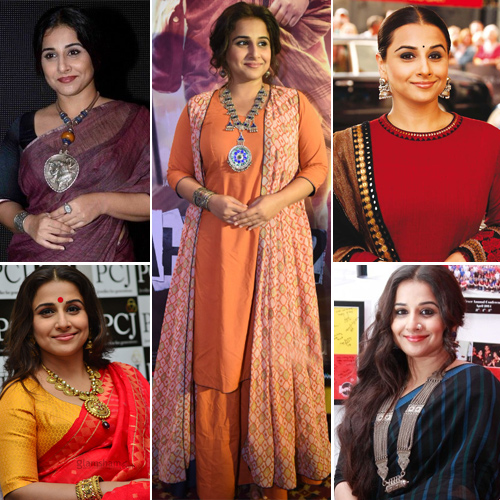 Vidya Balan in a classy accessories, try this festive season