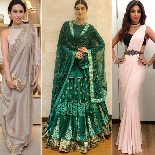 Modern-traditional outfits for this Karva Chauth, try these, 7 modern-traditional outfits for this karva chauth to try,  shilpa shetty in priyal prakash and manish malhotra,  mouni looks dreamy in this traditional avatar,  khushi dazzles in this manish malhotra outfit,  karva chauth special,  fashion trends 2016,  ifairer