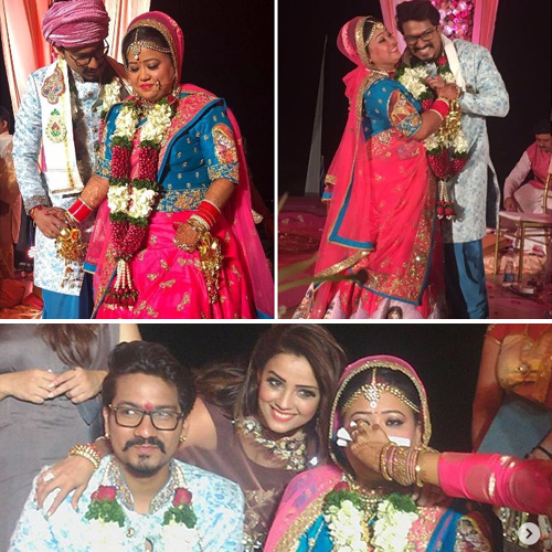 See wedding pics: Bharti Singh and Harsh Limbachiyaa get hitched, see wedding pics: bharti singh and harsh limbachiyaa get hitched,   bharti singh,  harsh limbachiyaa,  bharti singh tied the knot with haarsh limbachiyaa,  tv gossips, tv celebs wedding,  ifairer