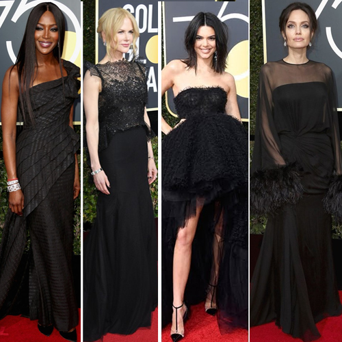 Golden Globes 2018: Best dressed celebs stunned in black, golden globes 2018: best dressed celebs stunned in black,  2018 golden globe awards,  the best and worst dresses,  red carpet, fashion trends 2018,  ifairer