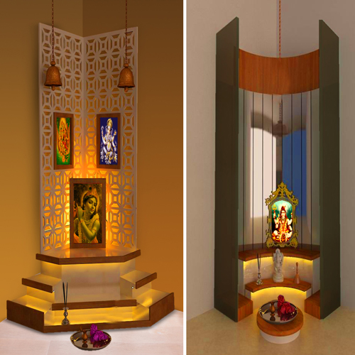 Right places for pooja room in house according vastu slide