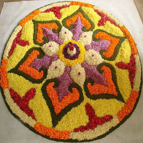 Rangoli designs for Holi: Make with flower and colors