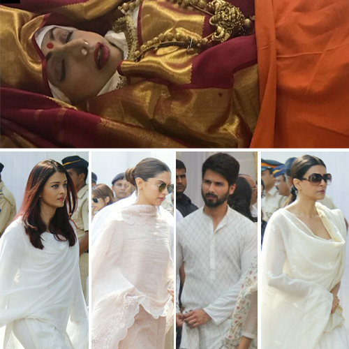 Sridevi's last rites: Stars pay last respects, sridevi last rites,  stars pay last respects to sridevi,  sridevi state funera,  bollywood news,  bollywood gossip,  ifairer