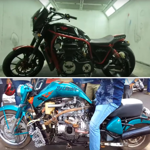 Desi jugaad: 5 Home-made Indian motorcycles with car-engines