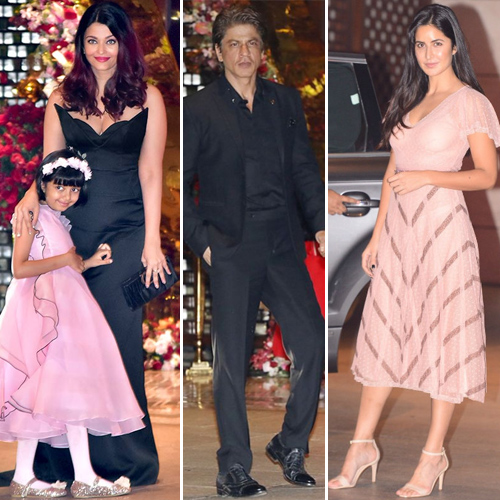 Celebs at Akash Ambani and Shloka Mehta's engagement bash, celebs,  akash ambani and shloka mehta engagement bash,  shah rukh khan,  katrina kaif,  karan johar,  bollywood news,  bollywood gossip,  ifairer