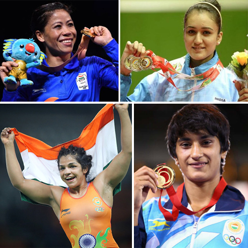 CWG 2018: India's medal winners on day 10, women shines, cwg 2018,  m.c. mary kom,  india medal winners on day 10,  women shines,  commonwealth games 2018,   india medal tally,  cwg 2018 day 10 ifairer