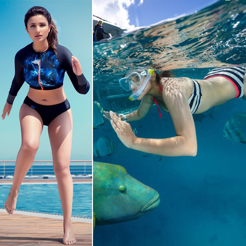 Parineeti Chopra flaunts her gorgeous figure in swimwear brand, bikini-clad parineeti chopra flaunts her gorgeous figure in swimwear brand,  parineeti chopra,  scuba diving,  great barrier reef,  bikini,  swimwear brand,  speedo,  speedo signs parineeti chopra as fitness ambassador,  fitness & exercise,  ifairer