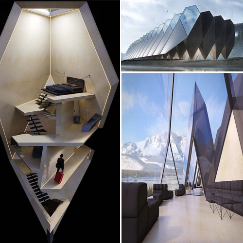 Most amazing hotel where guests sleep in 19-metre-high luxury triangular pods
