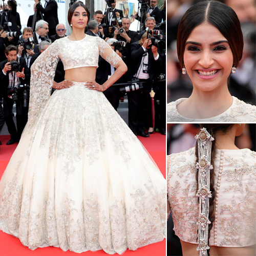 Cannes 2018: Sonam's Desi look at red carpet demands your attention