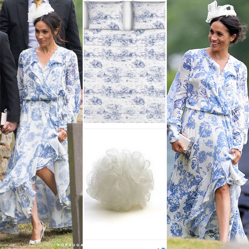 Meghan Markle trolled for wearing a dress like bed-sheet or curtain, meghan markle trolled for wearing a dress like bed-sheet or curtain,  meghan markle trolled,  boho bedsheet and curtain print wedding dress,  meghan markle,  hollywood news,  hollywood gossip,  ifairer