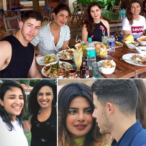 Priyanka and Nick holiday in Goa, she nails seductive rain dance with Parineeti, priyanka chopra and nick jonas holiday in goa,  pecee nails seductive rain dance with parineeti,  priyanka chopra,  nick jonas,  parineeti chopra,  goa,  hollywood news,  hollywood gossip
