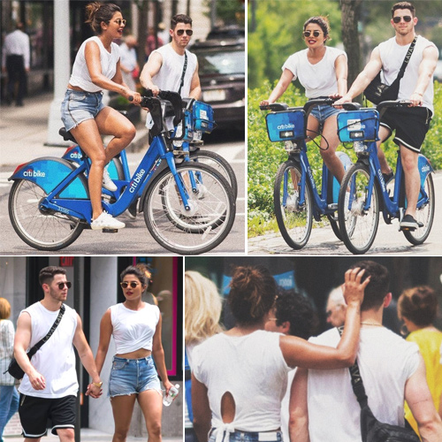 Priyanka Chopra and Nick Jonas go on a bicycle date, priyanka chopra and nick jonas go on a bicycle date,  priyanka chopra,  nick jonas,  romantic bicycle date,  hollywood news,  hollywood gossip,  ifairer