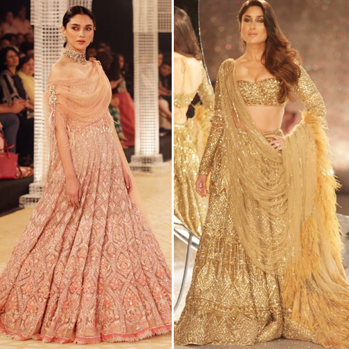 ICW 2018: Bollywood divas turns muse, icw 2018,  bollywood divas turns muse,  kareena kapoor khan dazzles in a golden shimmer lehenga by falguni-shane peacock at icw 2018,  shilpa shetty,  india couture week 2018,  ramp walk,  bollywood news,  bollywood gossip,  ifairer