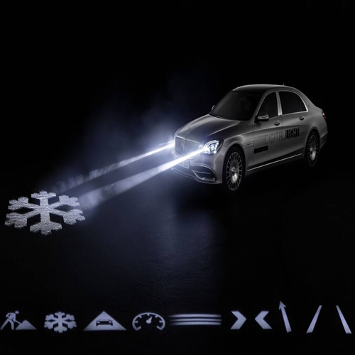 New Mercedes headlight technology lets allow to communicate through words, new mercedes headlight technology lets allow to communicate through words,  new mercedes headlight technology,   communicate through words,  just let your new merc headlights do all the talking,  automobiles,  technology,  ifairer