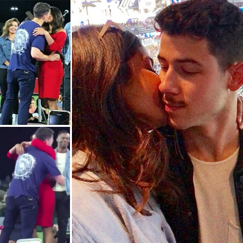 Priyanka Chopra kiss Nick Jonas publicly for the first time