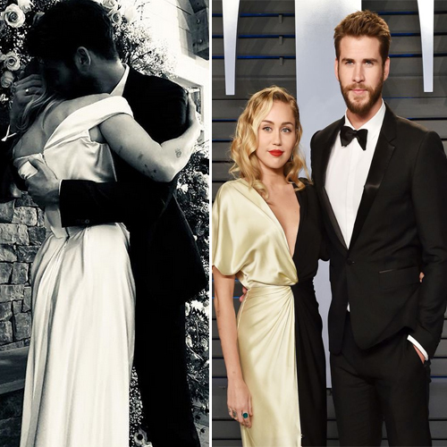 Miley Cyrus marries actor Liam Hemsworth, miley cyrus marries actor liam hemsworth,  miley cyrus marries actor liam hemsworth in an intimate ceremony,  miley cyrus and liam hemsworth wedding,  celebs wedding 2018,  miley cyrus,   liam hemsworth,  hollywood news,  hollywood gossip,  ifairer